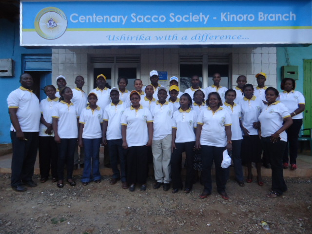 photo of some of the Board of Directors and staff and the Sacco's kinoro branch